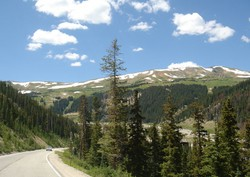 The ride took the bicyclists up and over three passes in the Rockies, Independence, Fremont and Vail Pass.  The day was perfect and the views were spectacular.