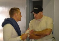 Jaco Correia gives Randy a few pointers about the Kyalami track